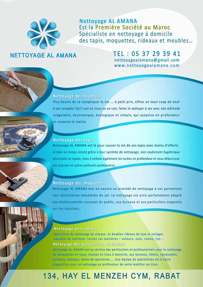 Nettoyage al amana nettoyage maroc annuaire for Produit cuisine professionnel