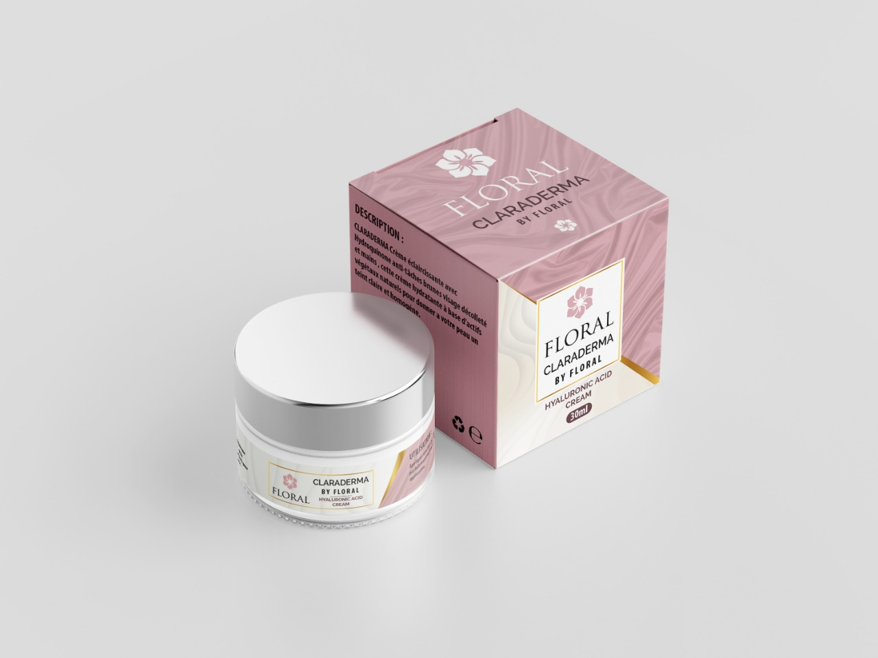 Crème Claraderma by floral , effet botox a base d'acide hyaluronic1