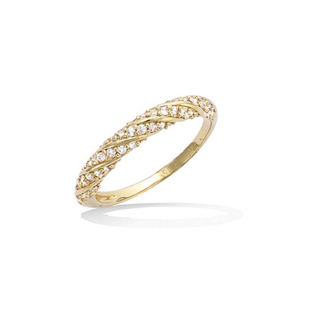 Bague Plaque Or Taille 50