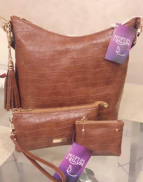 Pack Imola Marron sac à main+pochette+porte monnaie