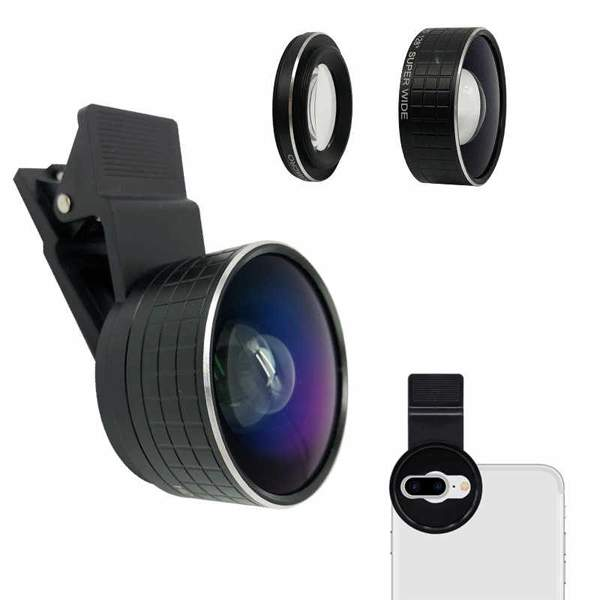 2 en 1 double caméra Macro objectif 20X Macro